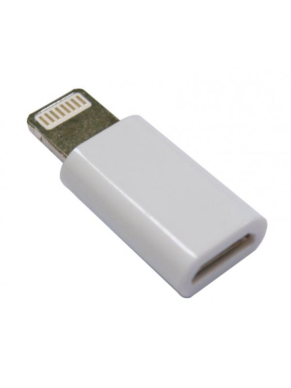 ADAPTADOR LIGHTNING - MICRO USB F , IPHONE 5 - Adaptador Lightning (iPhone5) a Micro USB Hembra