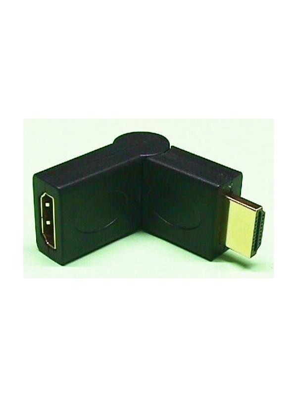 CONVERSOR HDMI M-H ARTICULADO - Conversor HDMI Macho-Hembra articulado, especial para proteger el cable en espacios reducidos.