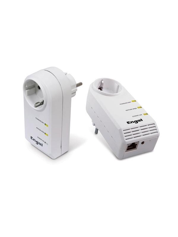 TRANSMISOR ETHERNET POR RED ELECTRICA PLC - Transmisor Ethernet por red eléctrica (emisor + receptor). Convierta su instalación eléctrica en una red de internet segura. Homologado para el descodificador iPlus de Digital+.
