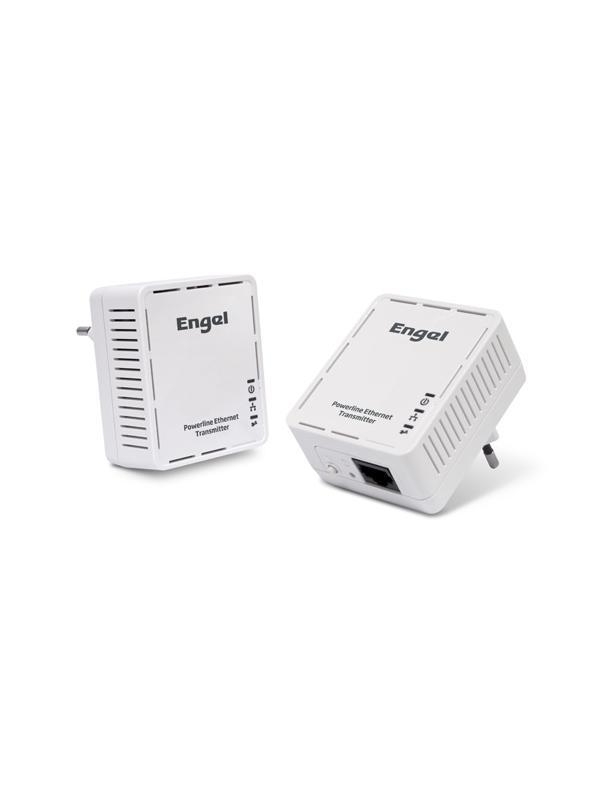 JUEGO 2 PLC 200 MBPS ENGEL PL1000 - Transmisor Ethernet por Red Eléctrica.