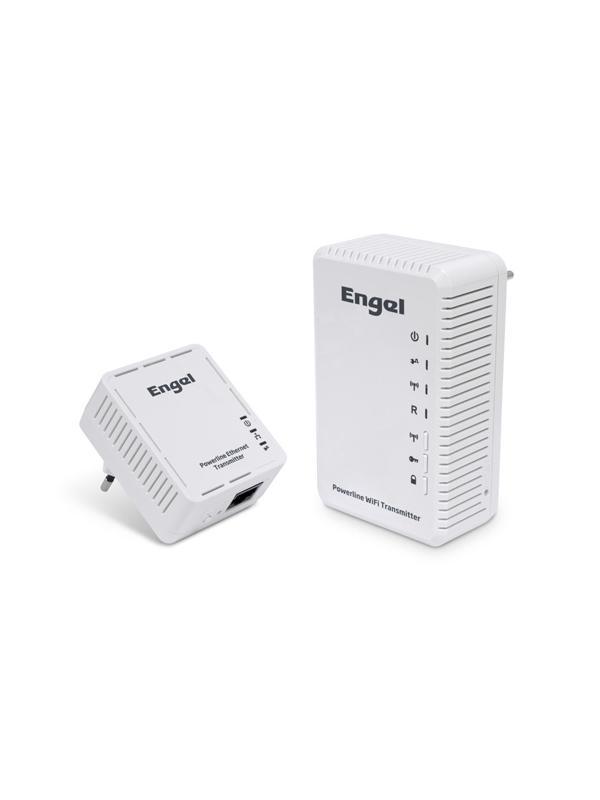 JUEGO 2 PLC 200 MBPS WIFI ENGEL PL2100 - Transmisor Ethernet y Wifi por Red Eléctrica.