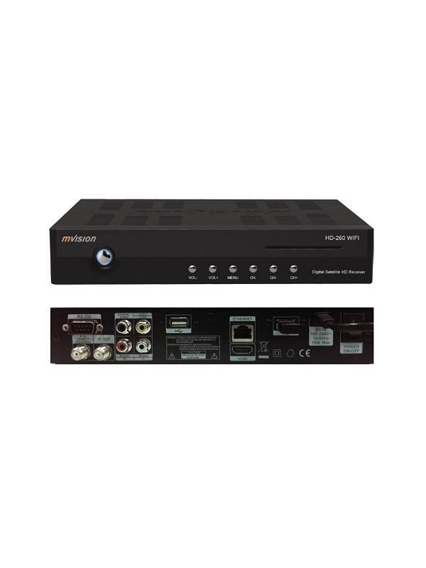 TDSAT MVISION HD-260 WIFI - Decodificador digital para satélite Mvision HD-260 WIFI. Televisión vía satélite y todos los servicios de Internet.