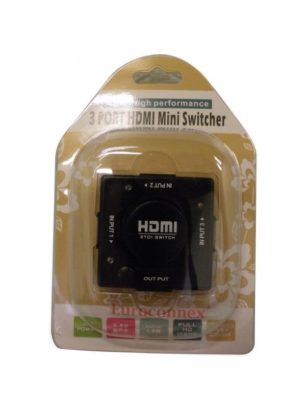 CONMUTADOR HDMI 3 ENTRADAS 1 SALIDA MANUAL - Conecte hasta 3 aparatos HDMI a su televisor.