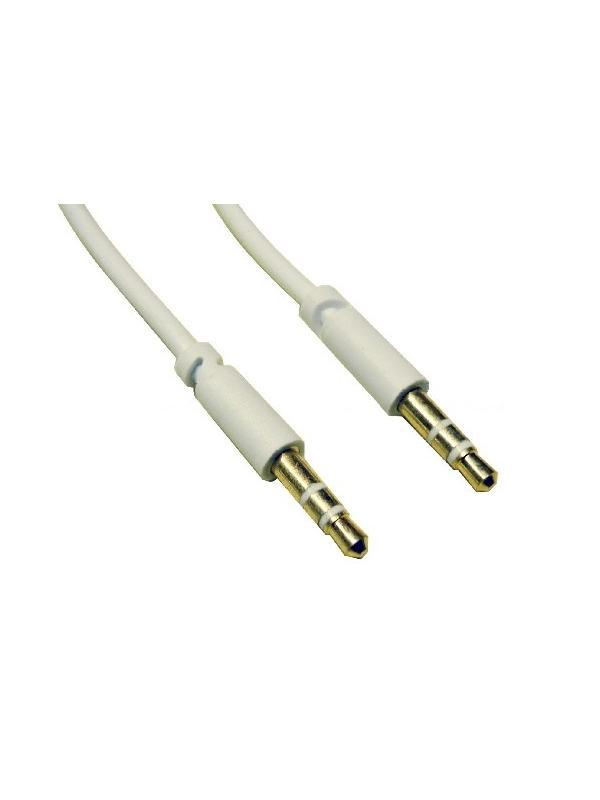 CONEXION JACK 3.5 ST M - JACK 3.5 ST M DORADO 1.5m - Conexión de jack 3.5 a jack 3.5  con conectores dorados para un mejor contacto de 1,5 metros de largo.