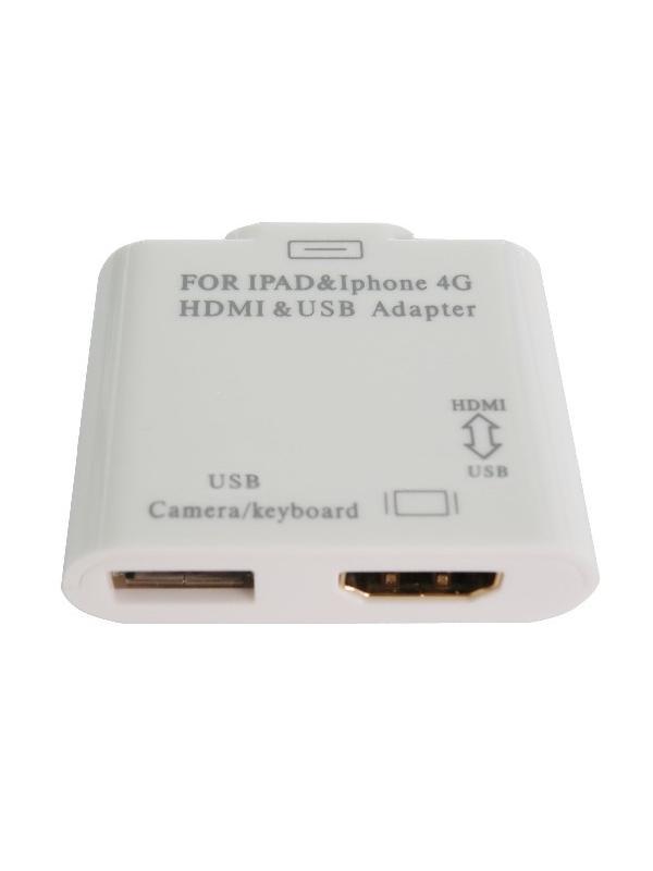 CONEXION HDMI + USB H - DOCK M - Visualice el contenido multimedia de su iphone o ipad en el televisor a través de HDMI con una resolución HD de 720p o 1080p. Además conecte dispositivos USB con el mismo aparato pequeño y fácil de transportar.