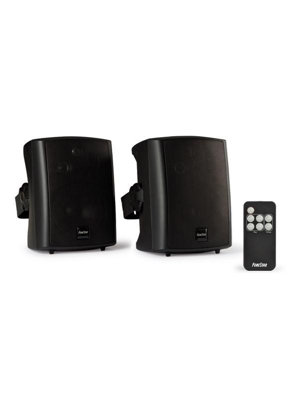 Pareja bafles amplificados 30W con mando - Pareja de bafles Hi-Fi compactos autoamplificados con mando a distancia y función standby automático.