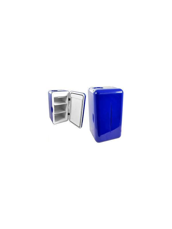 Nevera F16 AC 15 litros Azul Oscuro - Mini nevera de 15 litros aprox. con células peltier de 4A con adaptador incluido de 230V, refrigeración máxima de 20ºC por debajo de la temperatura ambiente. Color Azul oscuro.
