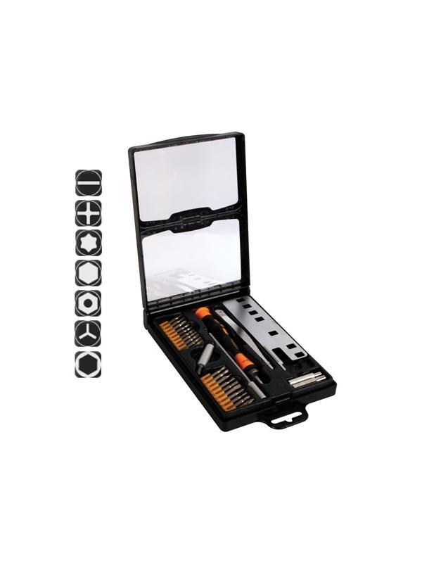 Juego destornilladores para consolas 27 uds - El juego incluye todas las herramientas necesarias para la reparación de consolas de juego y otros aparatos electrónicos con tornillos especiales.