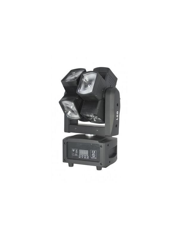 AEROEFFECT 96 - Cabeza móvil de doble eje con 8 proyectores BEAM de 12 W LED con mezcla de color RGBW.