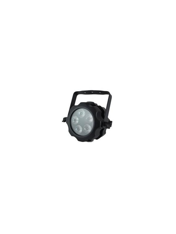 PAR 75 OUTDOOR 6 EN 1 - Proyector para exterior tipo PAR de 75 W LED RGB, blanco, ámbar y UV (6-en-1).
