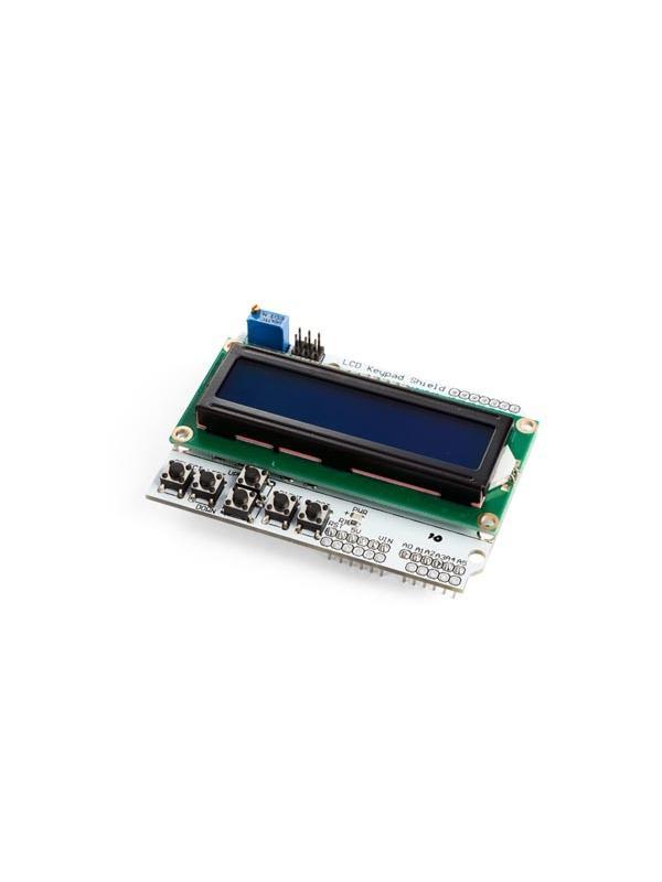 LCD & KEYPAD SHIELD PARA ARDUINO - LCD1602 - El shield con 16x2 pantalla LCD y teclado para Arduino Uno, Mega, Diecimila, Duemilanove y Freeduino.