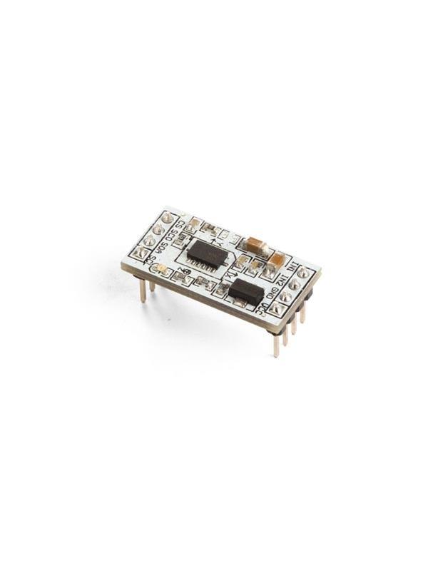 ACELERÓMETRO DIGITAL DE 3 EJES - MMA7455 - El MMA7455 puede medir la aceleración en 3 ejes. Es una tarjeta breakout que puede conectar a Arduino. Es necesario conectar VCC, GND, SCA y SCL.