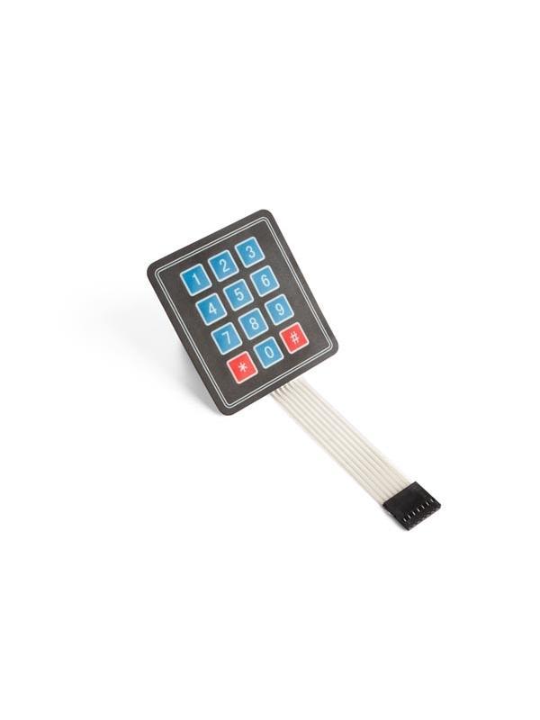 TECLADO DE MEMBRANA MATRICIAL 3 x 4 - Un teclado es un método sencillo para entrar datos.