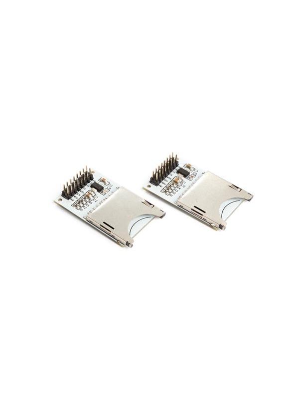 SHIELD DE LOGGING TARJETA SD PARA ARDUINO (2 uds.) - La mayoría de las placas Arduino® tiene una memoria limitada. Este shield de logging permite ampliar la memoria hasta 2 GB.