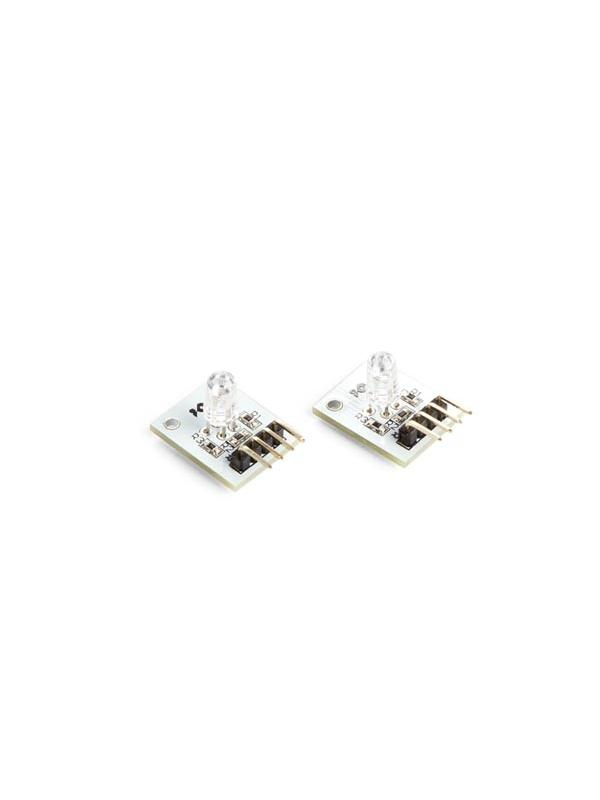 MÓDULO LED RGB COMPATIBLE CON ARDUINO (2 uds.) - Módulo LED RGB con resistencias con límite de corriente.