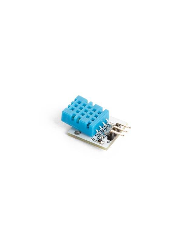 SENSOR DE TEMPERATURA Y HUMEDAD DIGITAL DHT11  - El sensor de temperatura NTC y humedad DHT11 está equipado con una salida digital calibrada. Su tecnología garantiza la alta fiabilidad y una excelente estabilidad a largo plazo. Está conectado un microcontrolador de alto rendimiento de 8 bits.