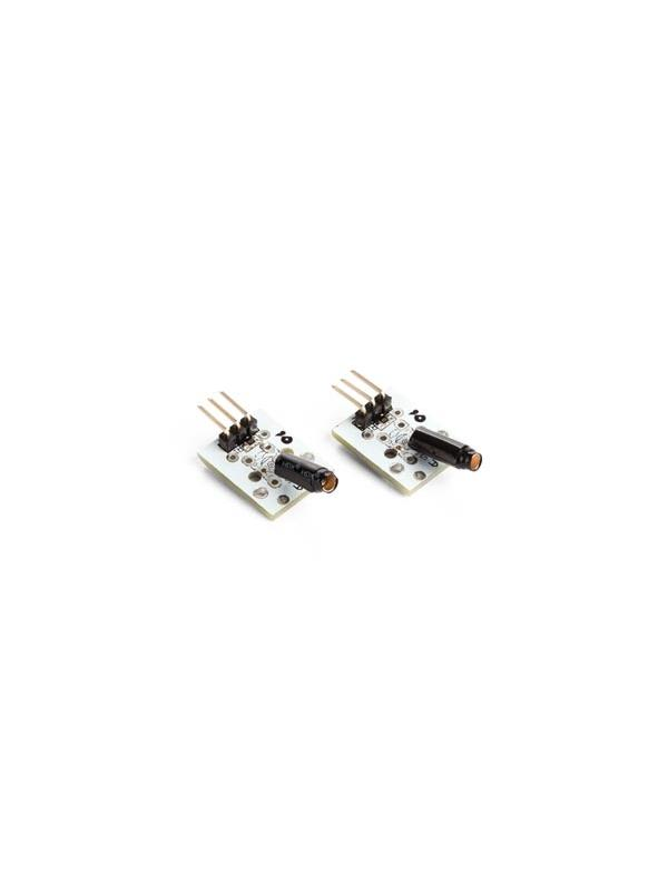 SENSOR DE VIBRACIONES / CHOQUE (2 uds) - Este módulo incluye un sensor de vibraciones y una resistencia pull-up de 10K.