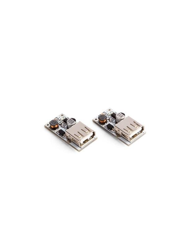 MÓDULO BOOST DC-DC / (2.5 V-5 V) 600 mA A USB 5 V (2 uds) - Este módulo procura una tensión estable de 5 V desde una batería Li-Po o dos pilas alcalinas.