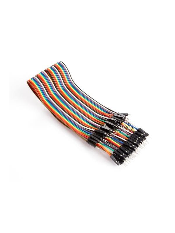 CABLE DE PUENTE 40 POLOS 30 cm MACHO A MACHO (CABLE PLANO) - Es fácil separar este cable en uno o varios cables de puente.