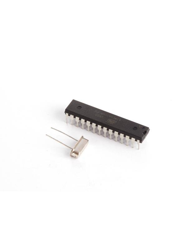 ATMEGA328P CI MCU CON BOOTLOADER ARDUINO UNO Y OSCILADOR DE CRISTAL 16 MHz -