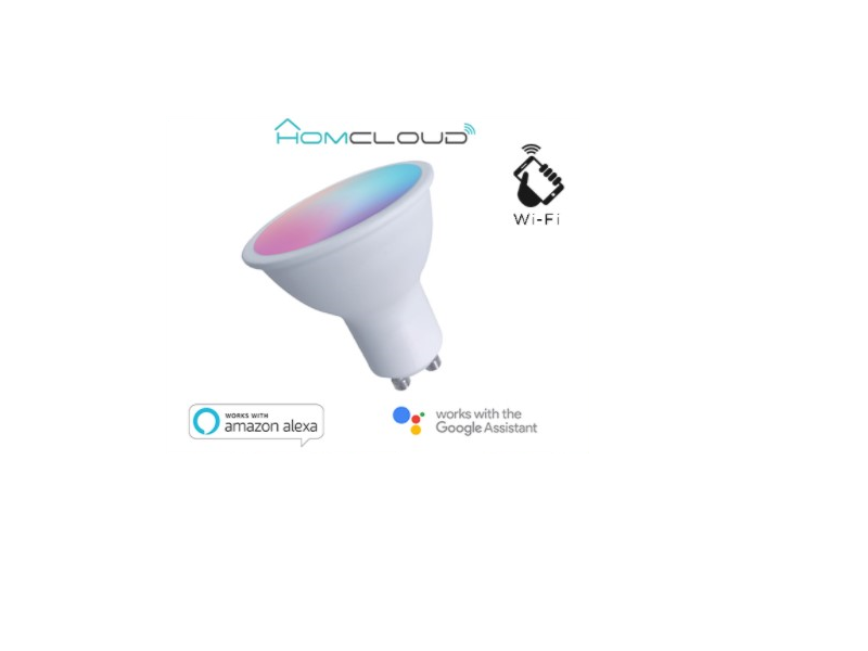 LAMPARA GU10 WIFI RGB+W CALIDO REGULABLE