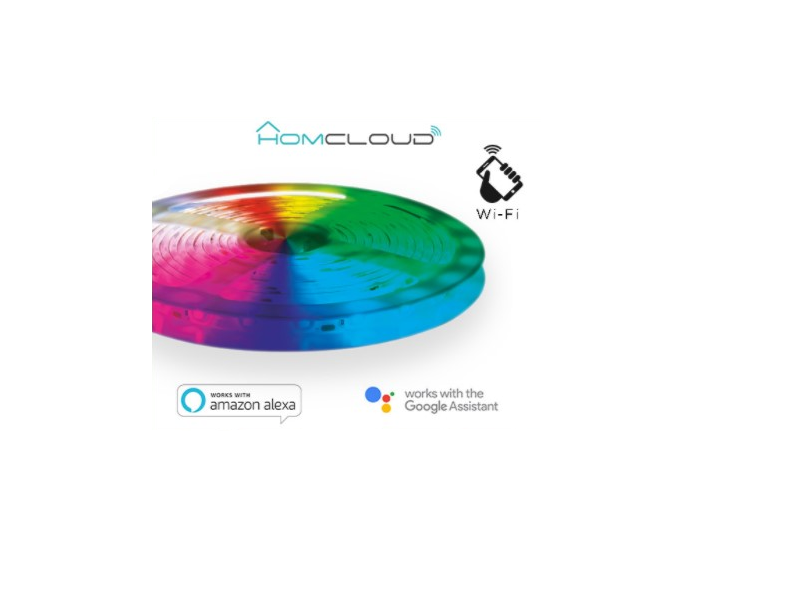 TIRA LEDS RGB+BLANCO CALIDO KIT WIFI