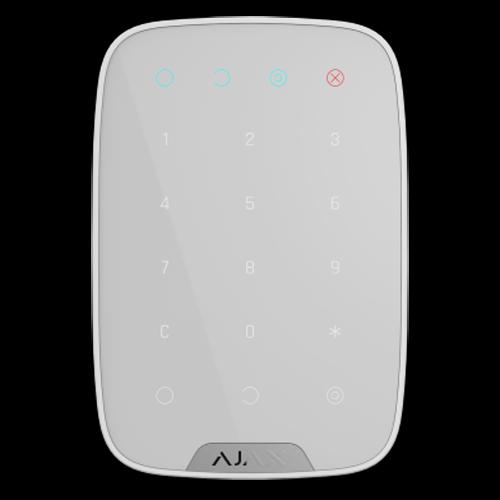 AJAX TECLADO INDEPENDIENTE BLANCO - Teclado independiente blanco Bidireccional Certificado grado 2 Inalámbrico 868 MHz Jeweller Armado, armado parcial, desarmado y emergencia Alimentación 4 pilas AAA 1.5 V