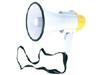 Megáfono de potencia 10W - Megáfono portátil con bandolera. Con sirena, interruptor ON/OFF y ajuste de volumen. Caja en ABS.