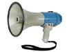 Megáfono de potencia 25W - Megáfono portátil con bandolera. Con sirena/bocina, interruptor ON/OFF y ajuste de volumen. Caja ABS.