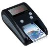Detector / contador de billetes de EUROS portátil DP-2158 - Su pantalla digital multifunción muestra la cantidad de billetes introducidos y el valor en Euros de los mismos. Además, permite introducir los billetes en cualquier dirección y en el orden que se desee ya que de forma inteligente reconoce su valor y aute