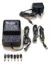 Cargador de baterías de Ni-Cd y Ni-Mh automático. - Cargador de baterías para uso en casa o en el automóvil que además permite ser usado como alimentador de pequeños aparatos electrónicos.